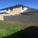 Colorbond fence with Steel Plinth