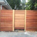 Merbau gate and block offs